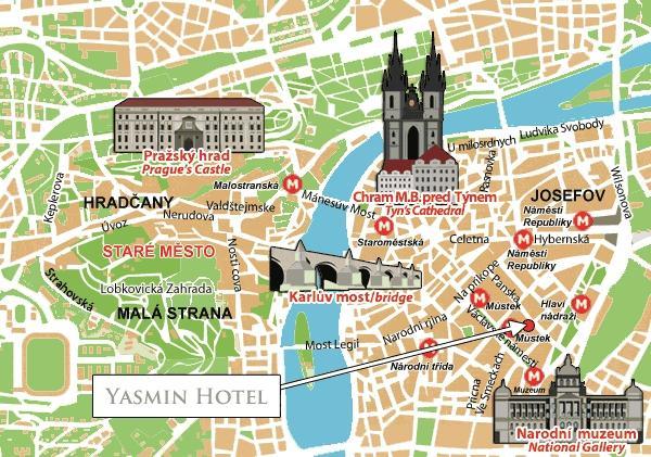 standort yasmin hotel prag. Black Bedroom Furniture Sets. Home Design Ideas